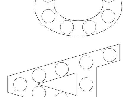 Bingo Dauber Alphabet Coloring Pages dltk teach