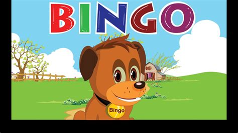 Bingo Dog Song Nursery Rhyme With Lyrics Cartoon