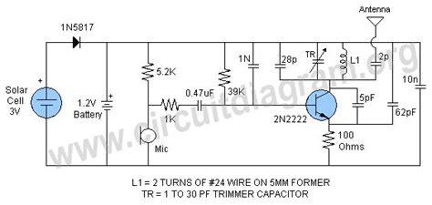 Bird Microphone Transmitter Circuit Diagram