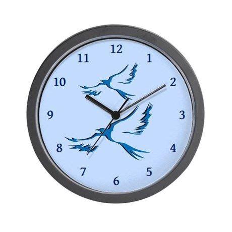 Bird Wall Clocks Large Modern Kitchen Clocks CafePress
