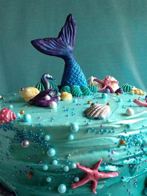 Birthday Cake Ideas Easy Mermaid Birthday Cake YouTube