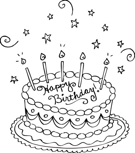 Birthday Coloring Pages Birthday Cake Pages Printable