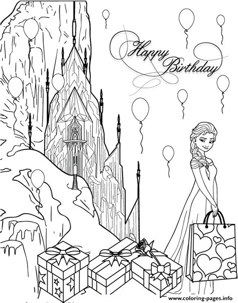 Birthday Coloring Pages from Coloring Castle