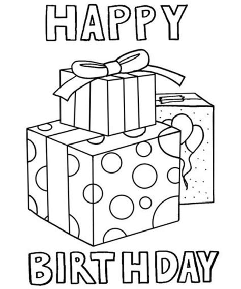 Birthday Party Coloring Pages DLTK Kids