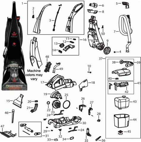 Bissell Proheat Carpet Cleaner Parts Repair Diagrams