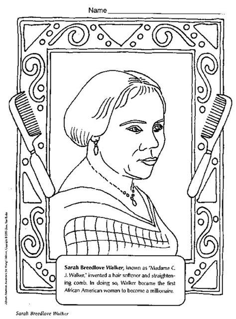 Black History Coloring Pages Interactive Famous African
