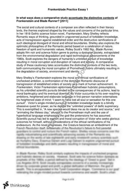 frankenstein thesis questions suggested essay topics for frankenstein