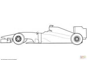 Blank Formula 1 Race Car coloring page Free Printable