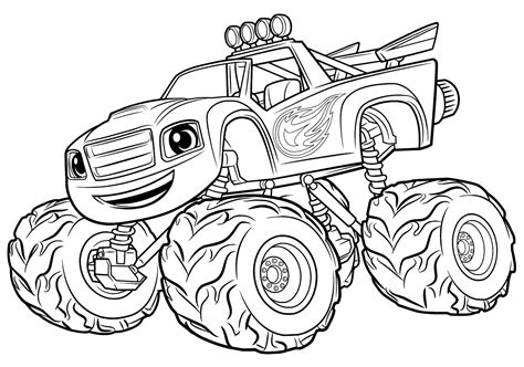 Blaze Monster Truck coloring page Free Printable