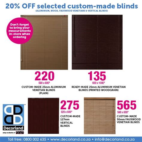 Blinds at Game Stores in South Africa Blinds for Africa