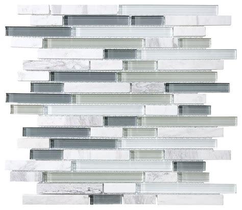 Bliss Iceland Random Strip Mosaic Tile Sample houzz