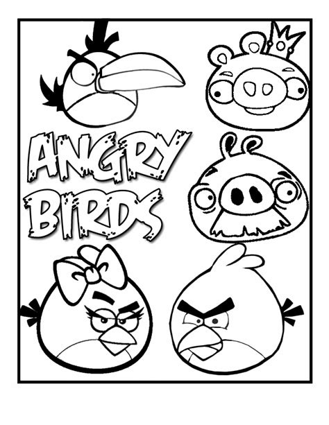 Blue Bird Coloring Pages Printable Angry Birds Coloring