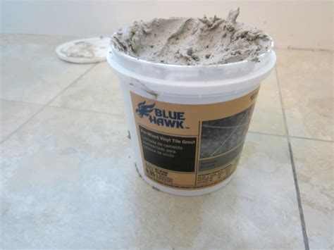 Blue Hawk Saddle Gray Vinyl Tile Grout Bathroom Updo