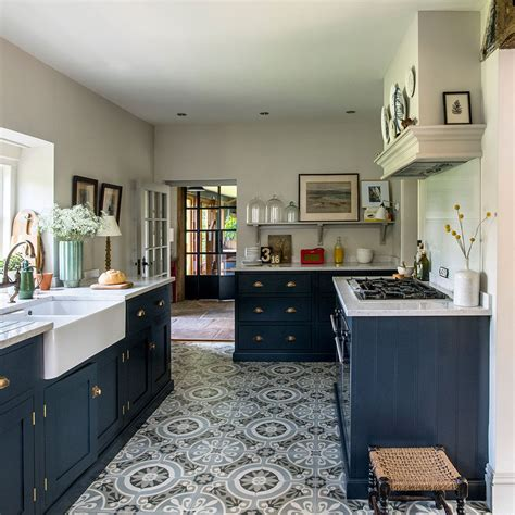 Blue Kitchen Floor Tiles Design Ideas DecorPad