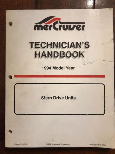 Boatinfo Mercury Mercruiser Technicians Handbook for