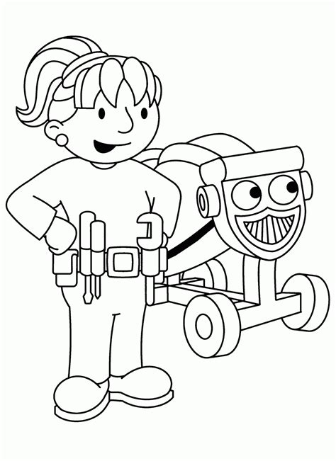 Bob The Builder Coloring Pages Coloring Bob The Builder