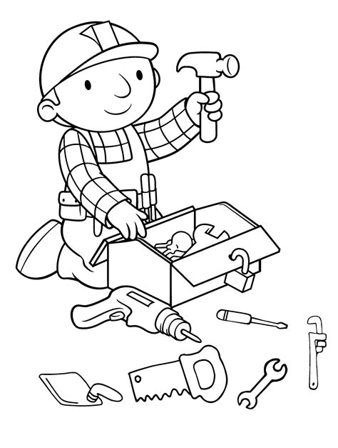 Bob The Builder Coloring Pages GetColoringPages
