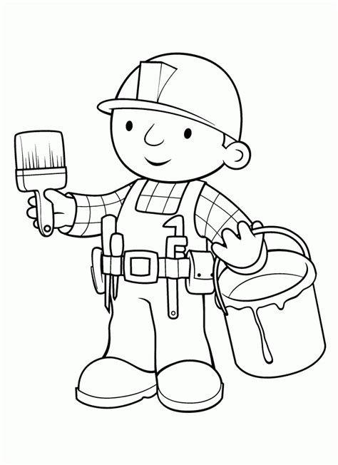 Bob the Builder color page Coloring pages for kids