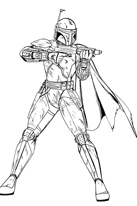 Boba Fett Coloring Pages to download and print for free
