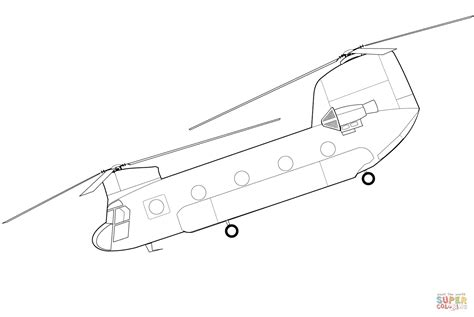 Boeing CH 47 Chinook Helicopter coloring page Free