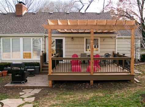Boothe Cedar Pergola over composite deck Traditional