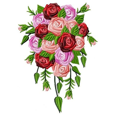 Bouquet Embroidery Designs DesignsBySiCK