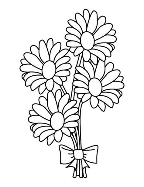 Bouquet colouring Etsy