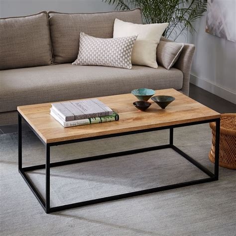 Box Frame Coffee Table Raw Mango west elm