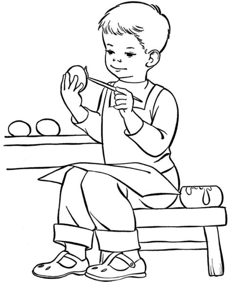 Boy Coloring Pages Printables Education