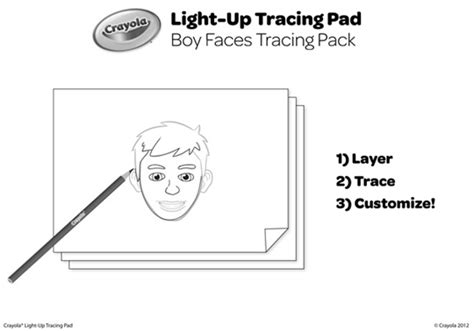 Boy Faces Tracing Pack crayola