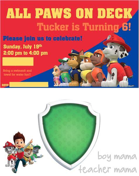 Boy Mama Paw Patrol Birthday Party