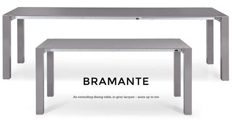 Bramante Square Extending Dining Table in grey made