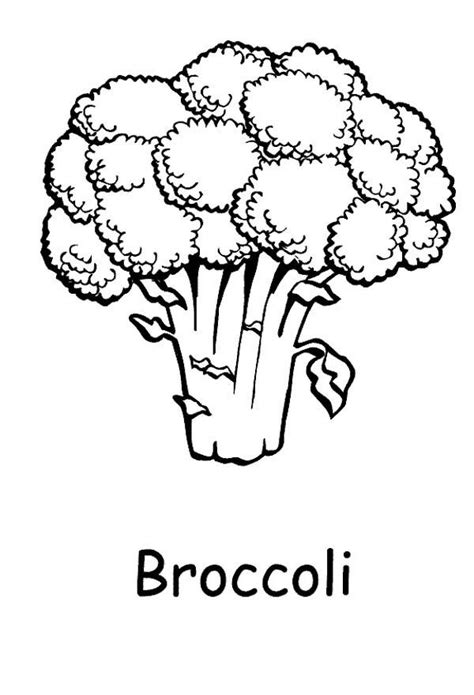 Broccoli coloring page Free Printable Coloring Pages