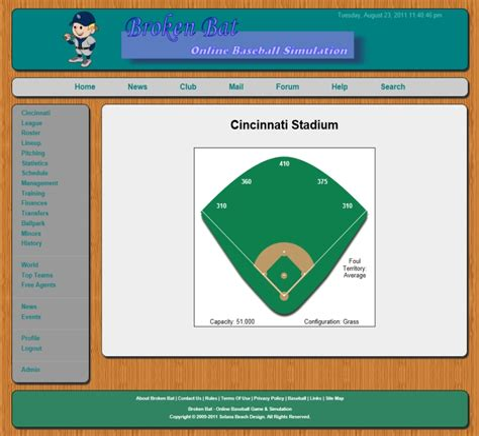 Broken Bat Online Baseball Management Game