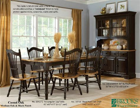 Brooks Furniture Solid Wood Dining Dinette