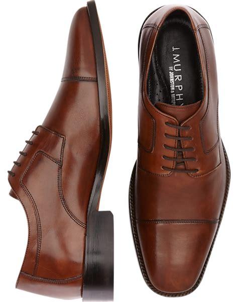 Brown Cap Toe Lace Ups Men s Dress Shoes J Murphy by