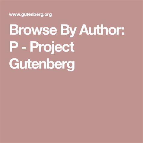 Browse By Author B Project Gutenberg