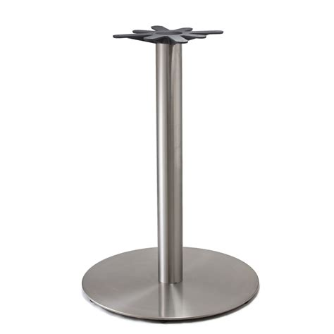Brushed Stainless Steel Tables Bistro Tables and Bases