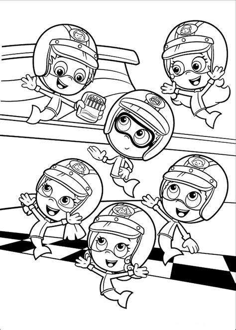 Bubble Guppies coloring pages on Coloring Book info