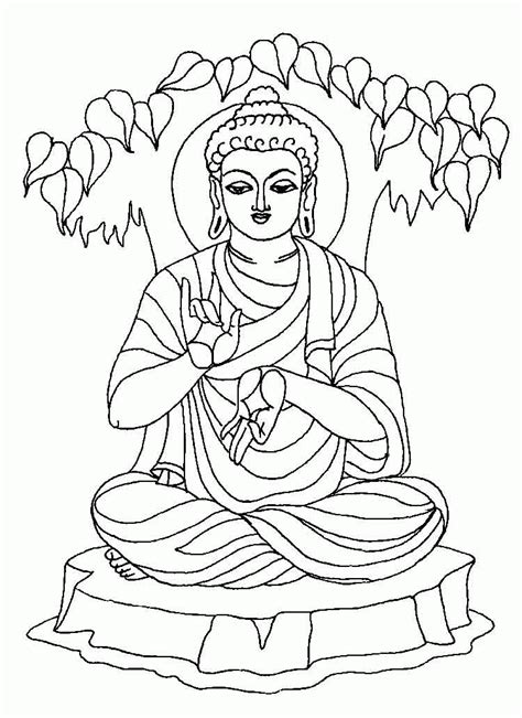 Buddha Coloring Pages GetColoringPages