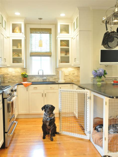 Built In Dog Crate Houzz