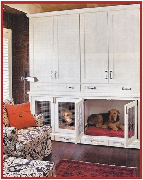 Built in dog crate Indulgy