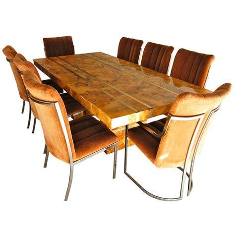 Burl Dining Room Sets 13 For Sale at 1stdibs