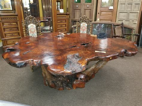 Burl wood dining table Tables Compare Prices at Nextag