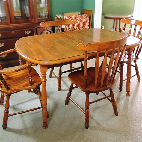 Burlington House Furniture Dining Table and Chairs EBTH