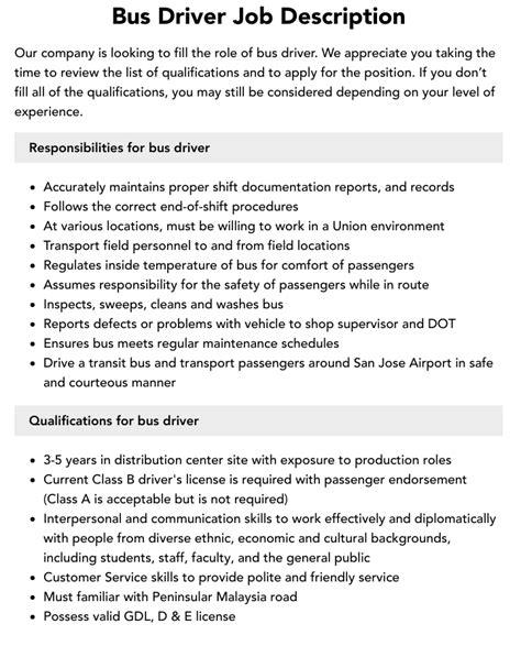 Bus Driver Career Profile Job Description Salary and