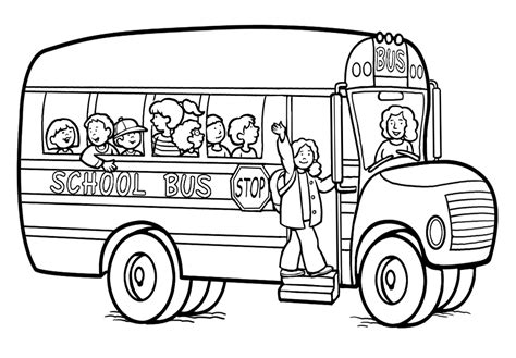Buses coloring pages printable games