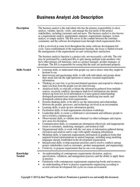 Business Intelligence Analyst Job Description Duties and