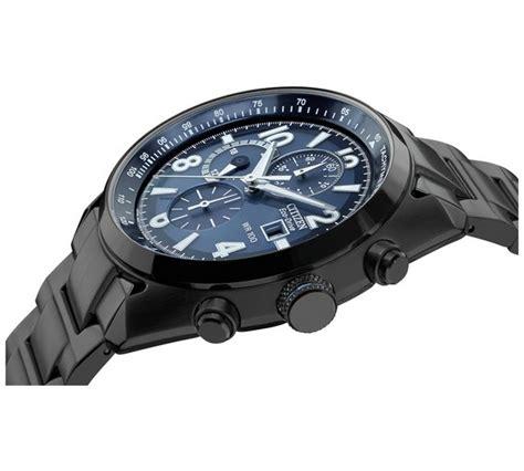 Buy Citizen Men s Blue Dial Black IP Chronograph Argos
