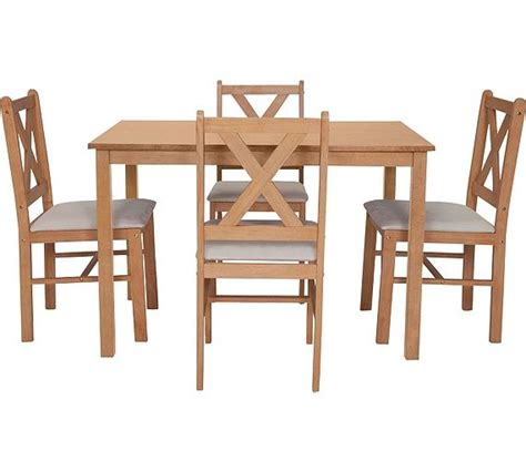 Buy HOME Ava Solid Walnut Dining Table 4 Chairs Argos